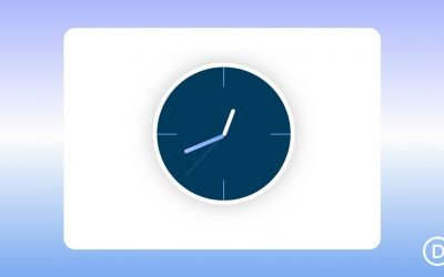 Animated Clock with Scroll Effects