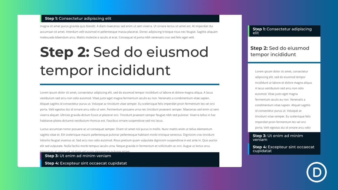Clickable Accordion Using Sticky Page Headings