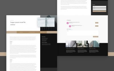 Blog Post Template for Architecture Firm Layout