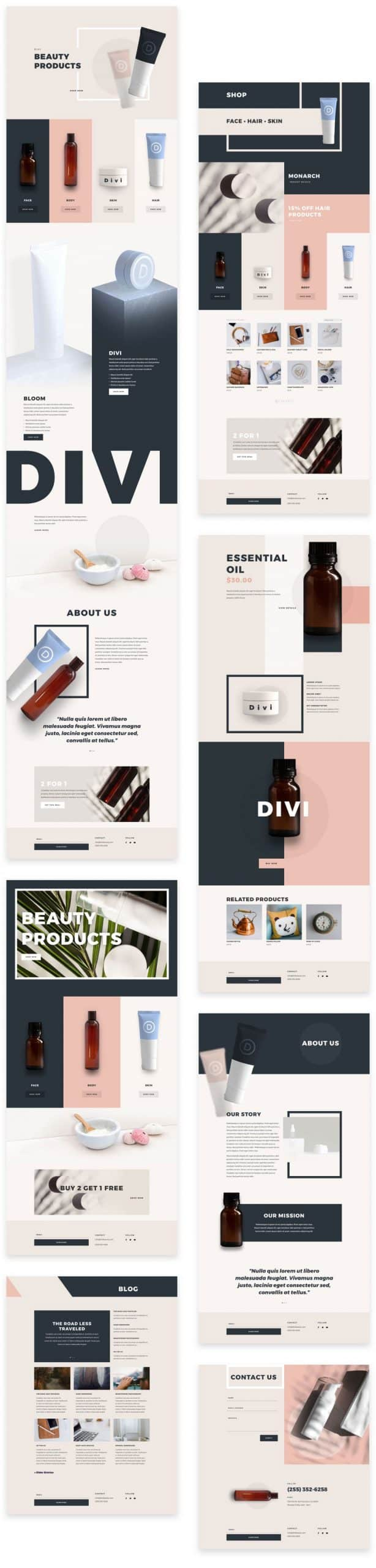 Beauty Products Layout pack