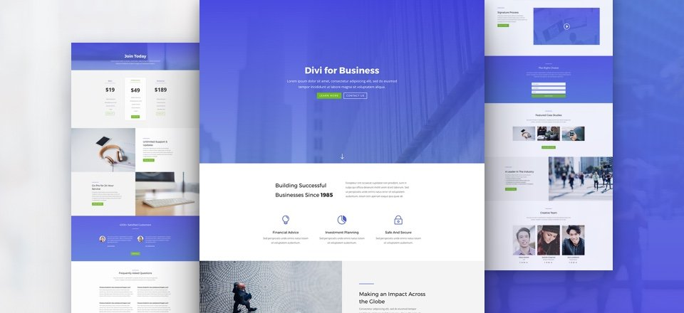 Business Agency Layout Pack