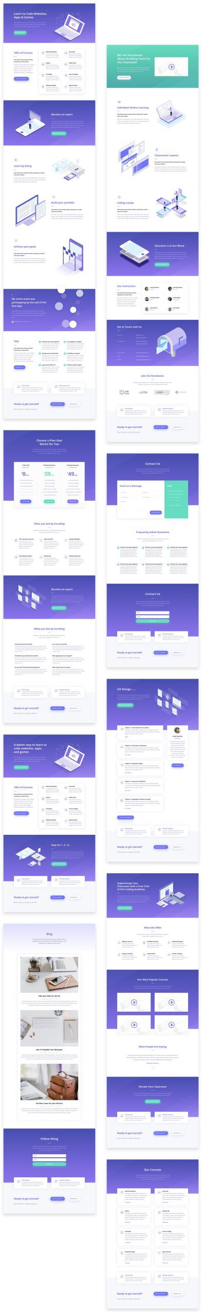 Learning Management (LMS) Layout Pack