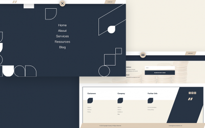 Header & Footer for Financial Advisor Layout Pack