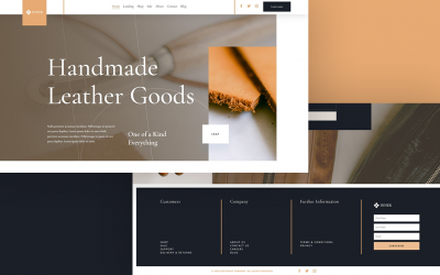 Header & Footer for Leather Company Layout Pack