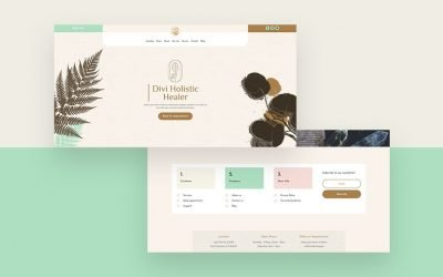 Header & Footer for Holistic Healer Layout Pack