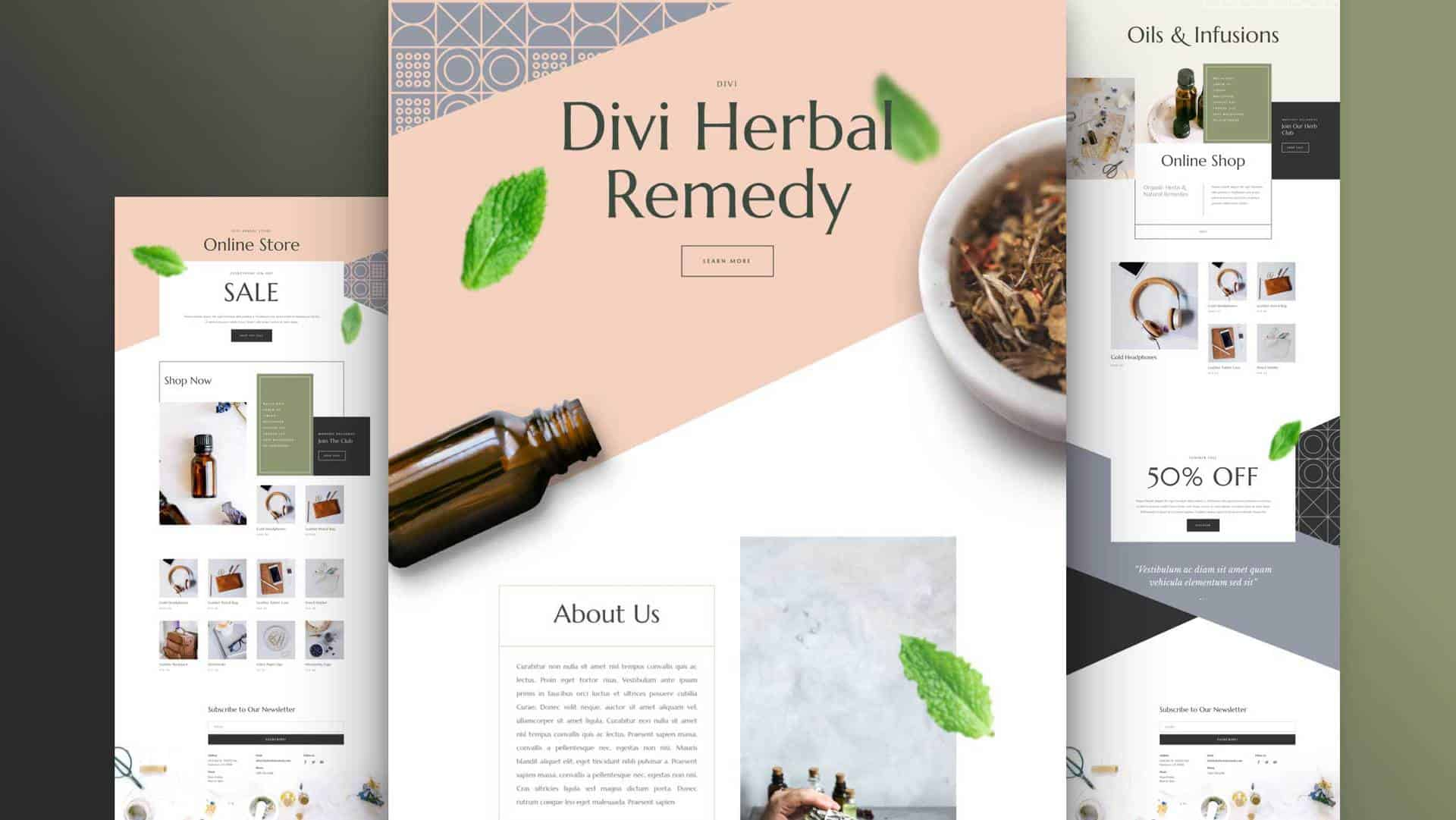 Herbal Remedy Layout Pack