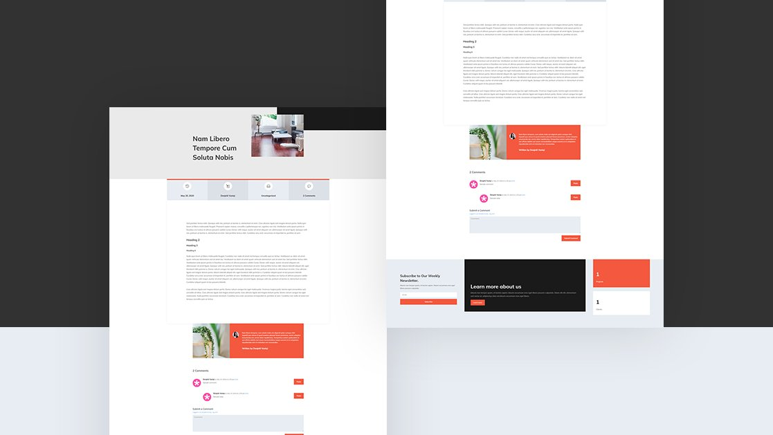 Blog Post Template for Interior Design Layout