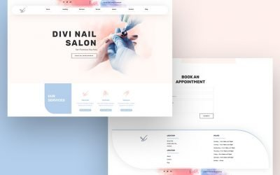 Header & Footer for Nail Salon Layout Pack