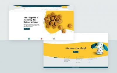 Header & Footer for Pet Supply Layout Pack