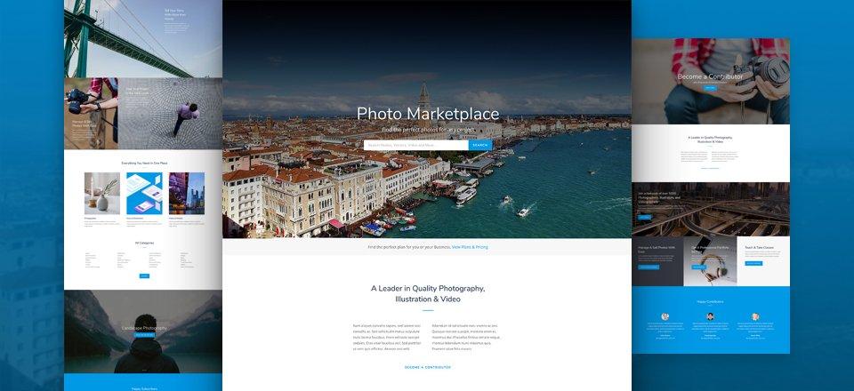 Photo Marketplace Layout Pack