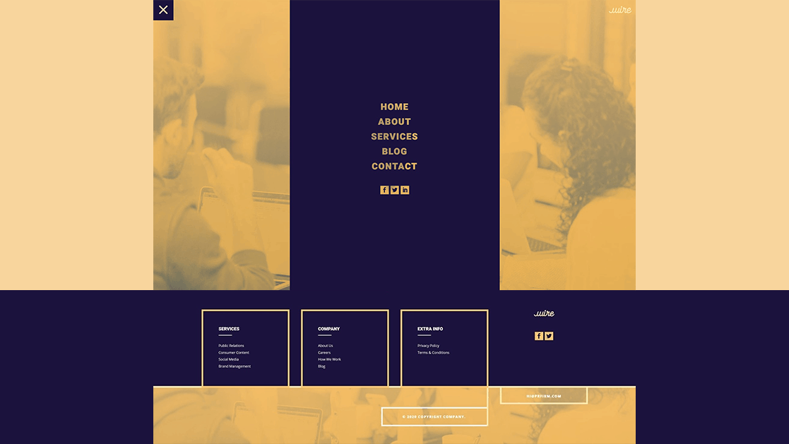 Header & Footer for PR Firm Layout Pack
