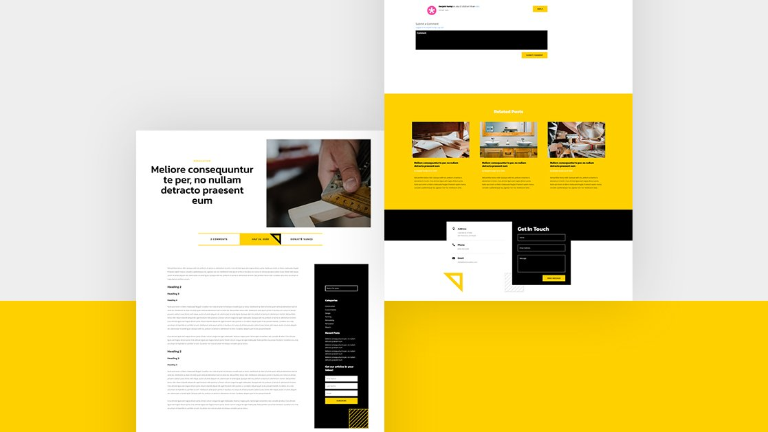 Blog Post Template for Renovation Layout