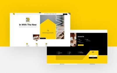 Header & Footer Template for Renovation Layout Pack