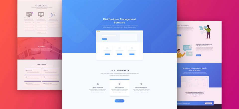 SaaS Layout Pack