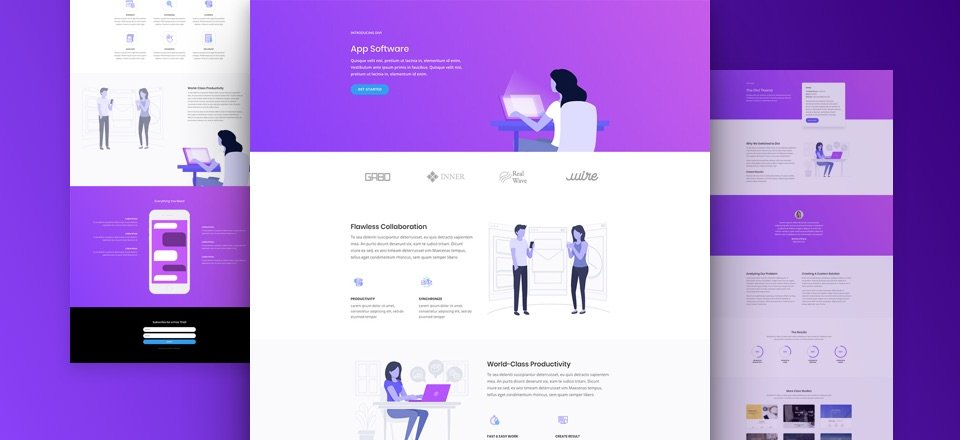 Software Marketing Layout Pack