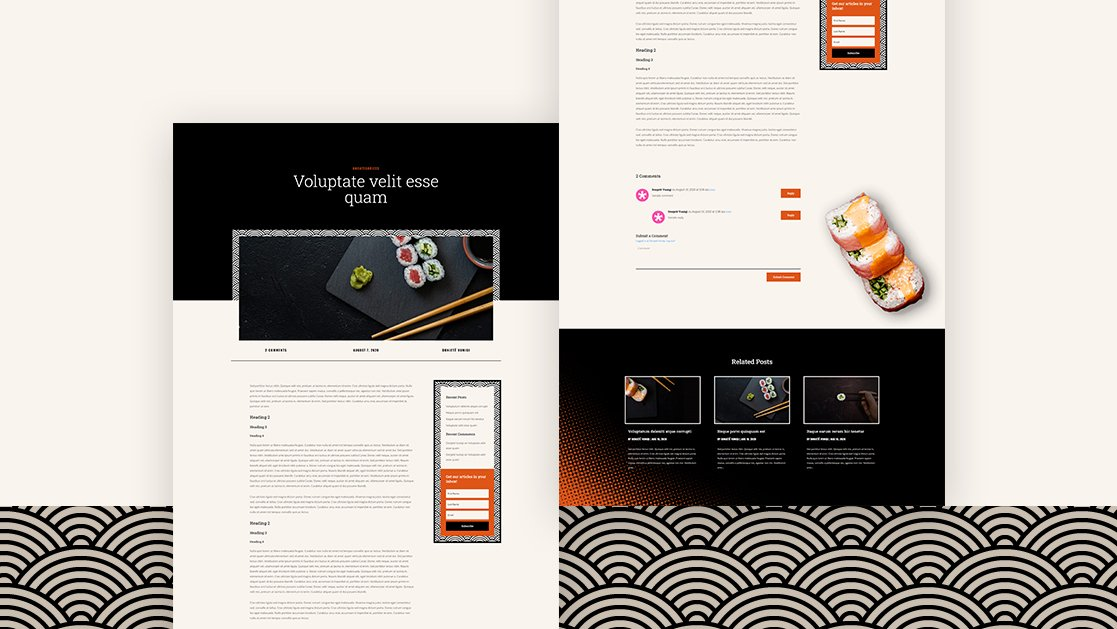 Blog Post Template for Sushi Restaurant Layout