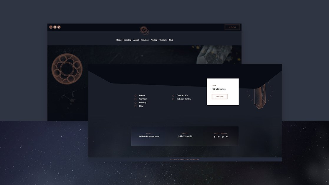 Header & Footer for Tarot Layout Pack