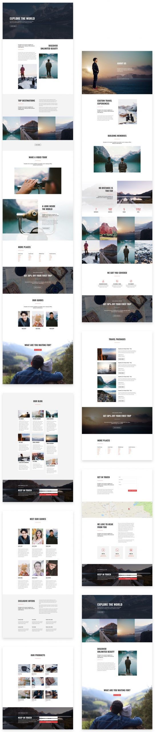 Travel Layout Pack
