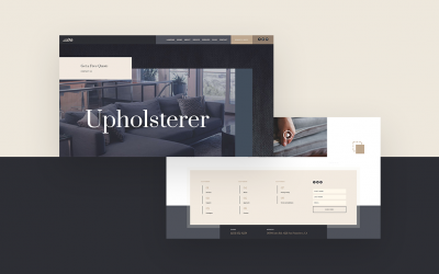 Header & Footer for Upholstery Layout Pack