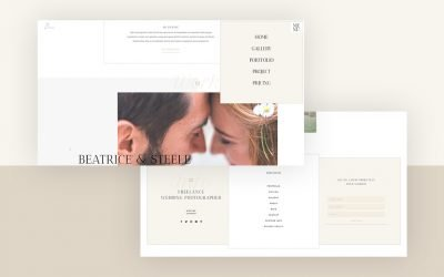 Header & Footer for Wedding Photographer Layout Pack