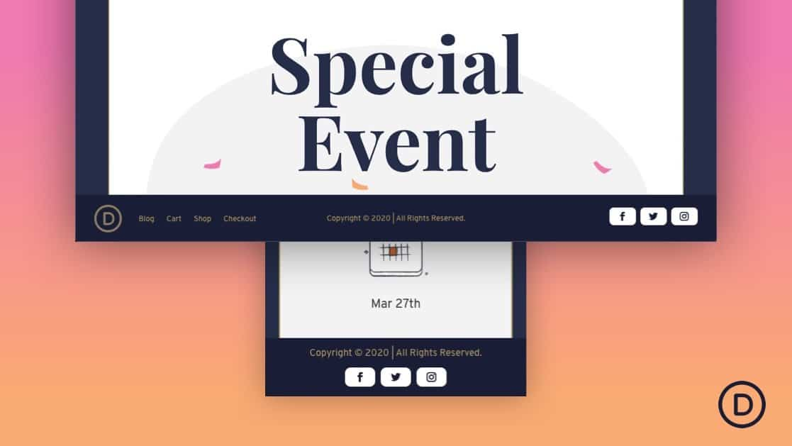 Fixed Footer Bar for Divi