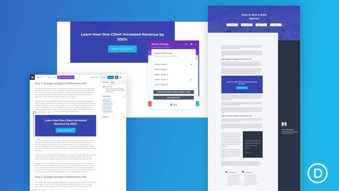 Global Presets to Streamline Blog Post Design