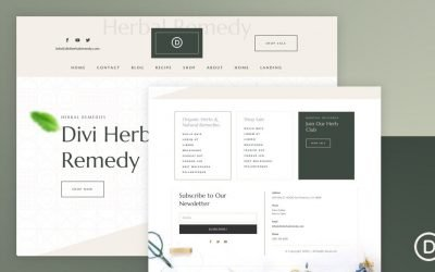 Header & Footer for Herbal Remedy Layout Pack