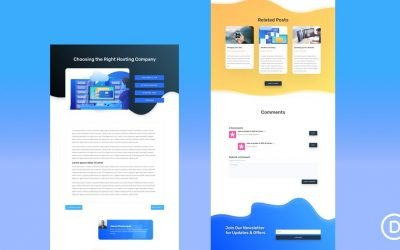 Blog Post Template for Hosting Company Layout