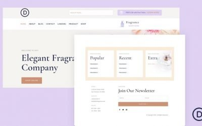 Header & Footer for Perfumery Layout Pack