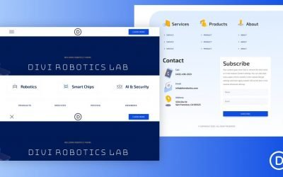 Header & Footer for Robotics Layout Pack