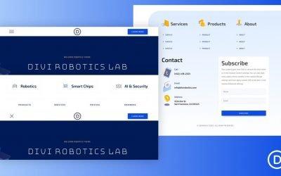 Header & Footer for Robotics Layout Pack