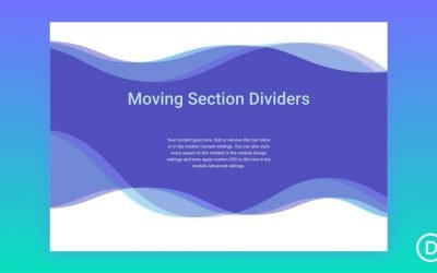 Section Divider Scroll Effects