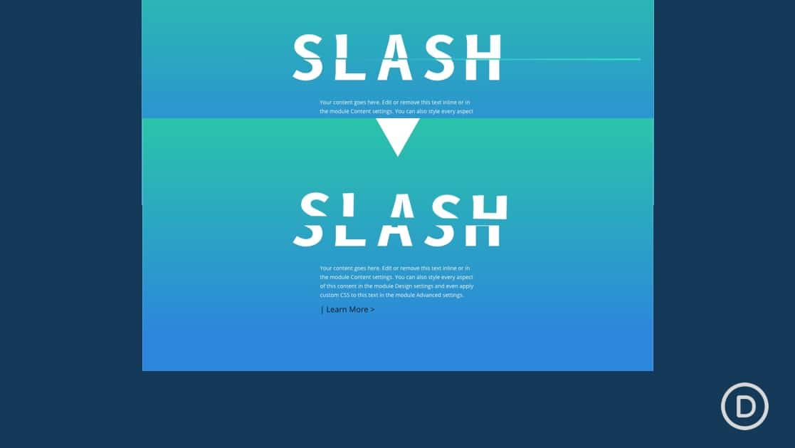Slashing Text Scroll Effect