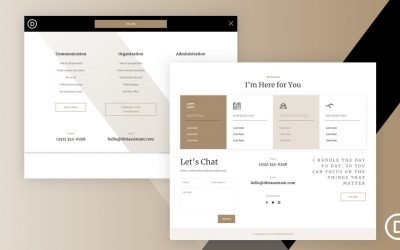 Header & Footer for Virtual Assistant Layout
