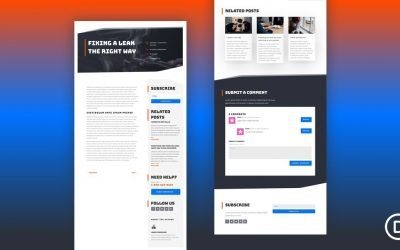 Blog Post Template for Handyman Layout Pack