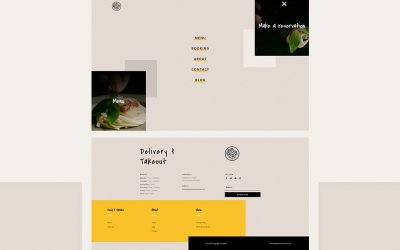 Header & Footer for Italian Restaurant Layout Pack