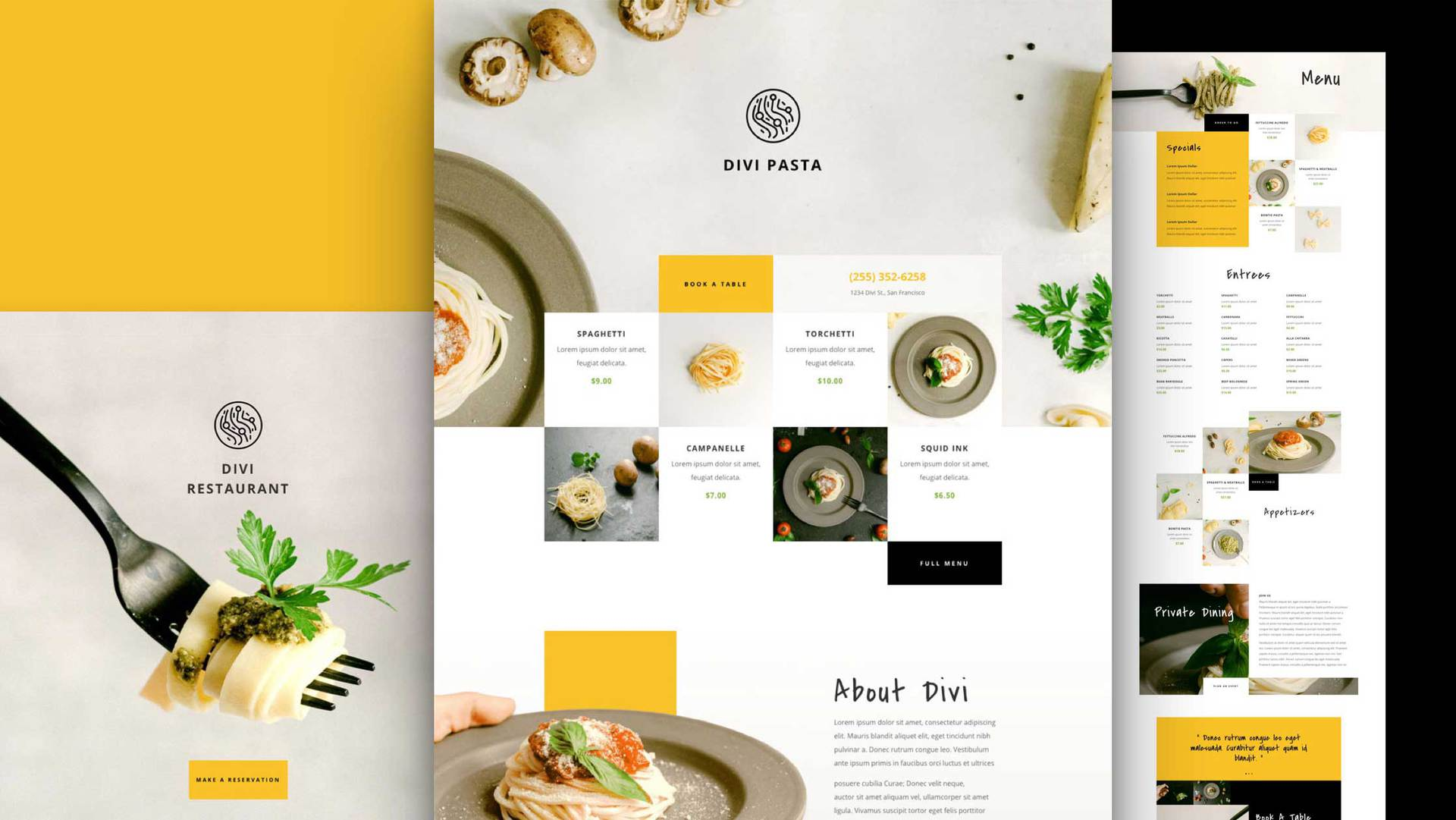 Italian Restaurant Layout Pack
