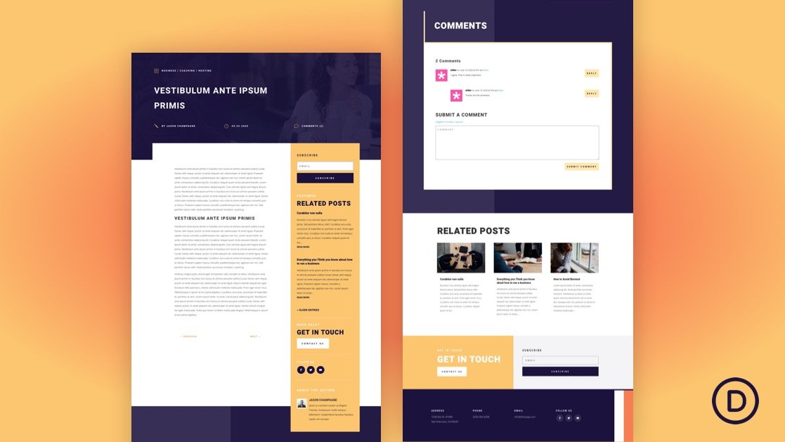 Blog Post Template for PR Firm Layout