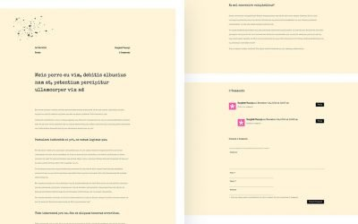 Classic Typewriter-Inspired Blog Post Template