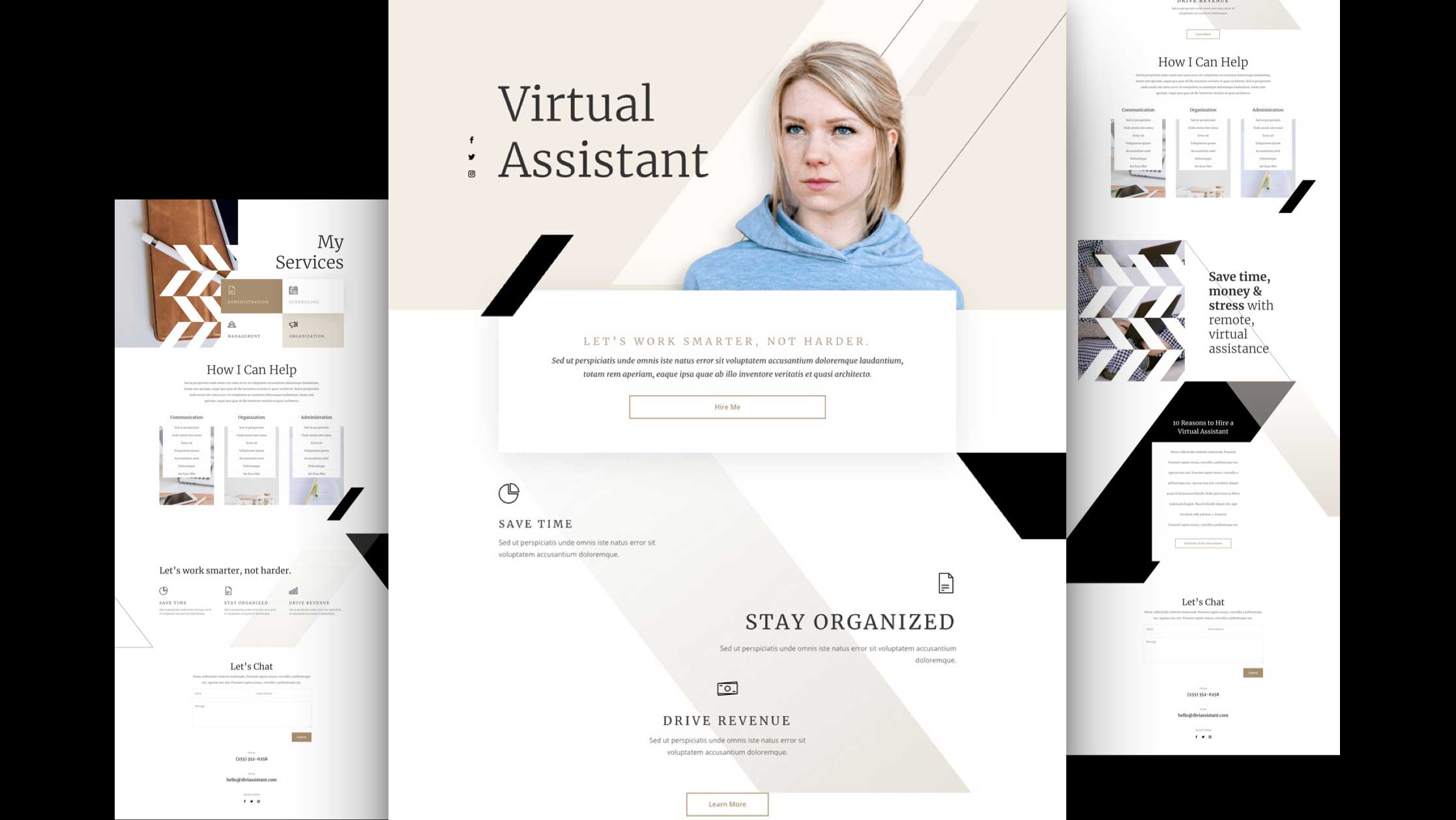Virtual Assistant Layout Pack