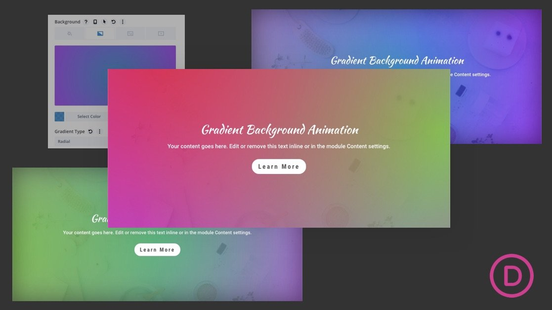 Gradient Background Animation in Divi (2 Ways)