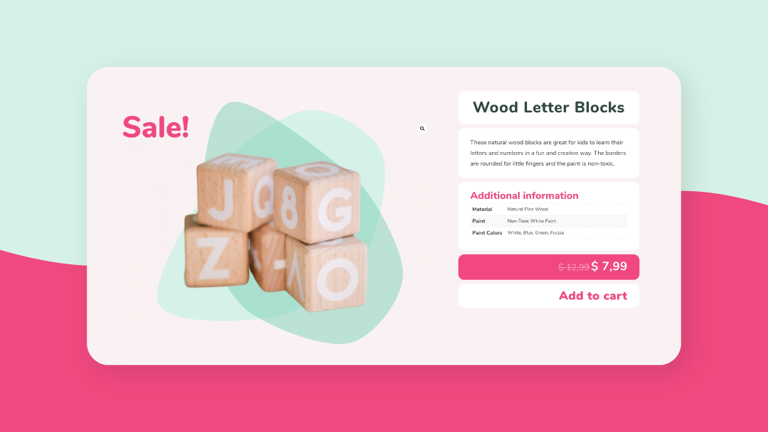 Fun Product Page Template for Kids' Products