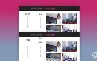 Vertical Sticky Timeline Layout