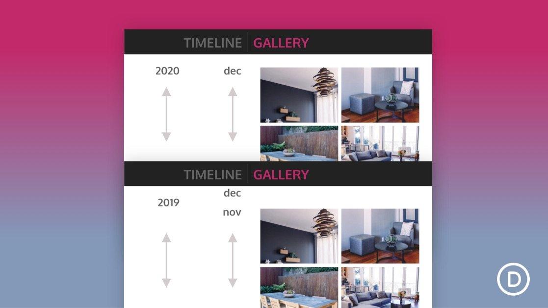 Vertical Sticky Timeline Layout