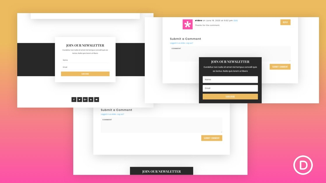Sticky Email Optin in Divi