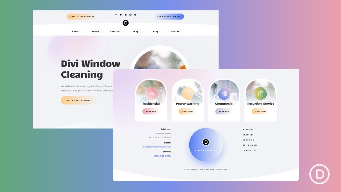 Global Header & Footer for Window Cleaner Layout