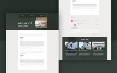 Blog Post Template for Realtor Layout