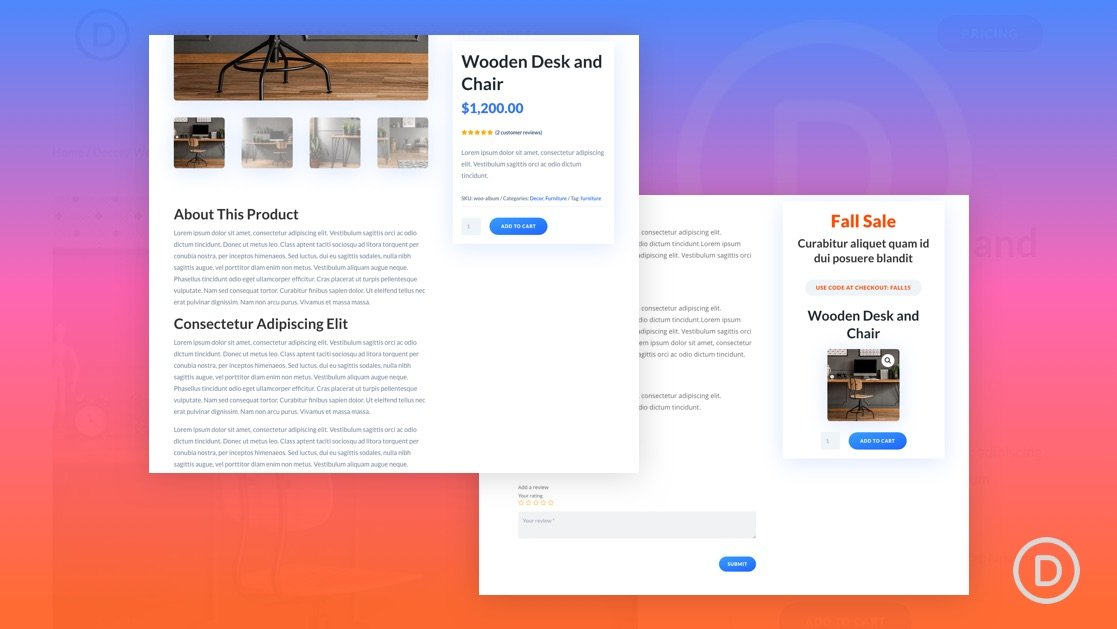 Custom Sidebar with Sticky Columns for a Product Page Template