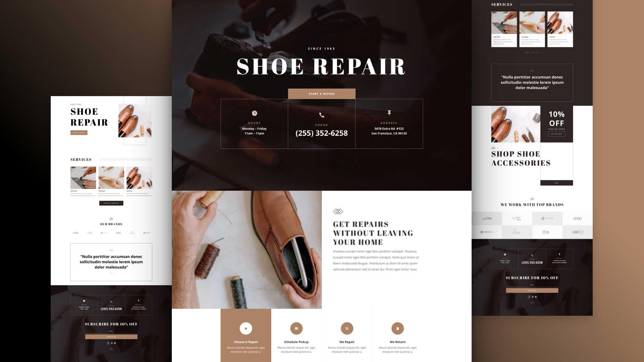 Shoe Repair Layout Pack