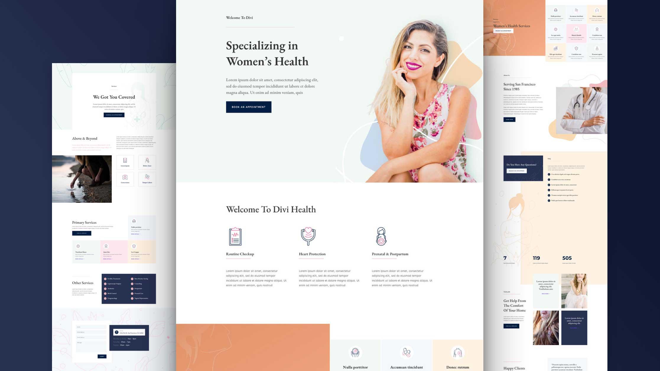 Women's Health Center Layout Pack